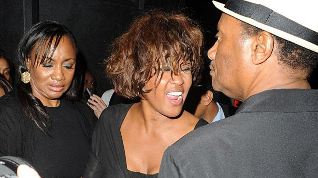 PHOTO: The 48-year-old, Whitney Houston was last spotted looking worse for wear in Hollywood, California after enjoying a party with friends, Feb. 9, 2012.