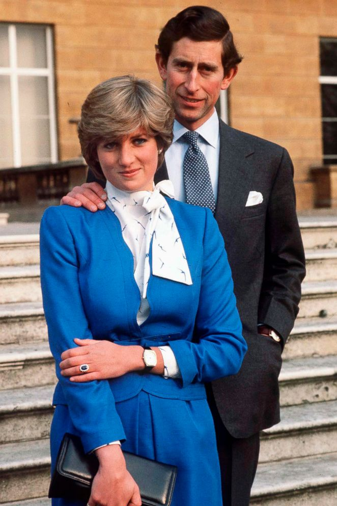 PHOTO: Lady Diana Spencer and Prince Charles pose for photographs at Buckingham Palace in London, following the announcement of their engagement, Feb. 24, 1981.
