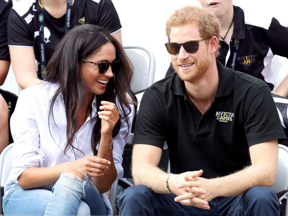 PHOTO: Prince Harry and Meghan Markle attend a Wheelchair Tennis match during the Invictus Games, on Sept. 25, 2017, in Toronto.