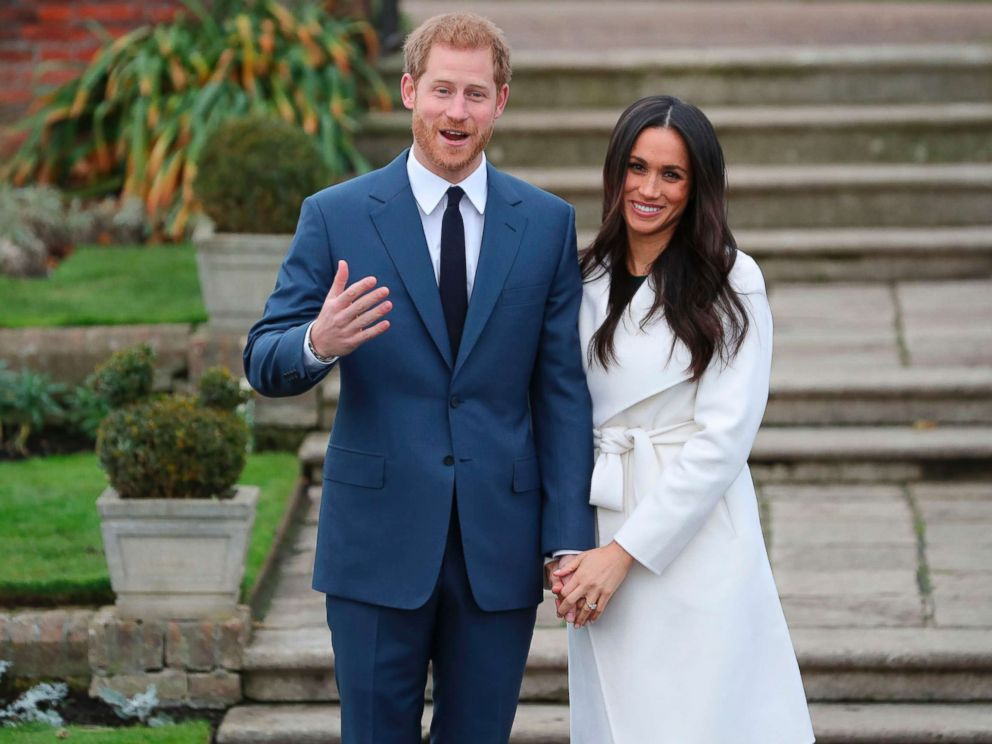 PHOTO: Britains Prince Harry and his fiance U.S. actress Meghan Markle pose for a photograph in the Sunken Garden at Kensington Palace in west London, Nov. 27, 2017, following the announcement of their engagement. <p itemprop=