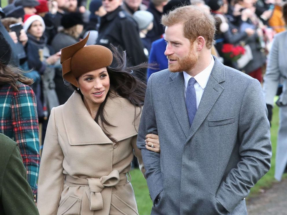 PHOTO: Meghan Markle and Prince Harry attend Christmas Day Church service at Church of St. Mary Magdalene, Dec. 25, 2017 in Kings Lynn, England.