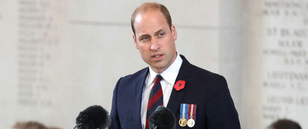 PHOTO: Prince William speaks at the Last Post ceremony, which has taken place every