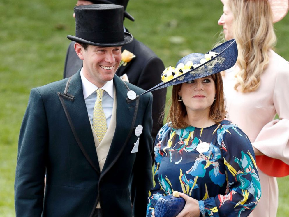 PHOTO: Jack Brooksbank and Princess Eugenie attend day 4 of Royal Ascot at Ascot Racecourse, June 23, 2017, in Ascot, England.