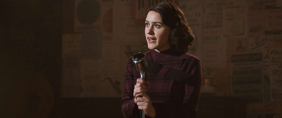 """PHOTO: Rachel Brosnahan as Midge Maisel in the first season of Amazons """"The Marvelous Mrs. Maisel,"""" 2017."""