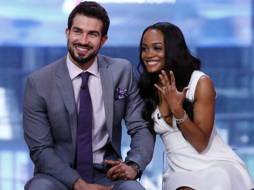 PHOTO Bachelorette Rachel Lindsay And Her Fiance Bryan Abasolo Appear On Good Morning America After