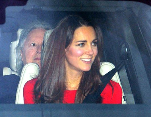 Kate Middleton and Prince William Arrive at the Palace for Christmas Lunch