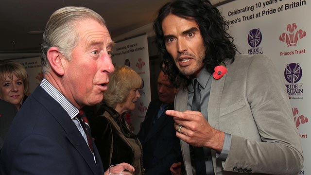 PHOTO: Prince Charles and Russell Brand.