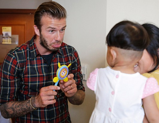 David Beckham Visits Kids in China Hospital