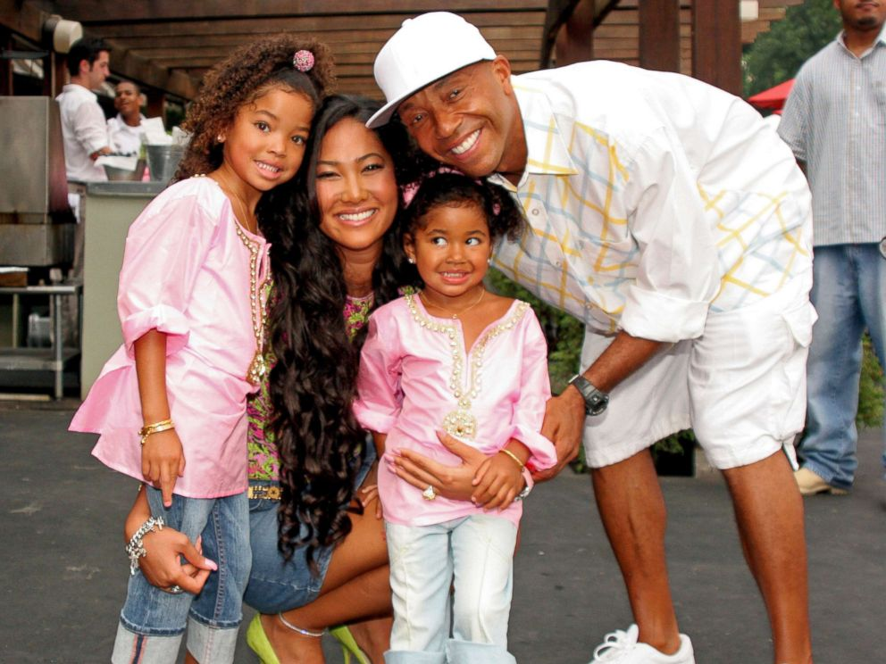 PHOTO: Pictured (L-R) are Ming Lee Simmons, Kimora Lee Simmons, Aoki Simmons and Russell Simmons, Aug. 14, 2005.