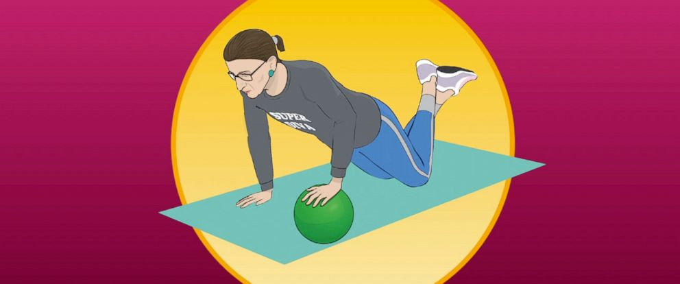 PHOTO: Illustrations from THE RBG WORKOUT