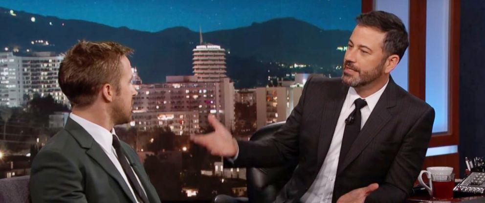 "PHOTO: Ryan Gosling appears on ""Jimmy Kimmel Live!"" Oct. 3, 2017."