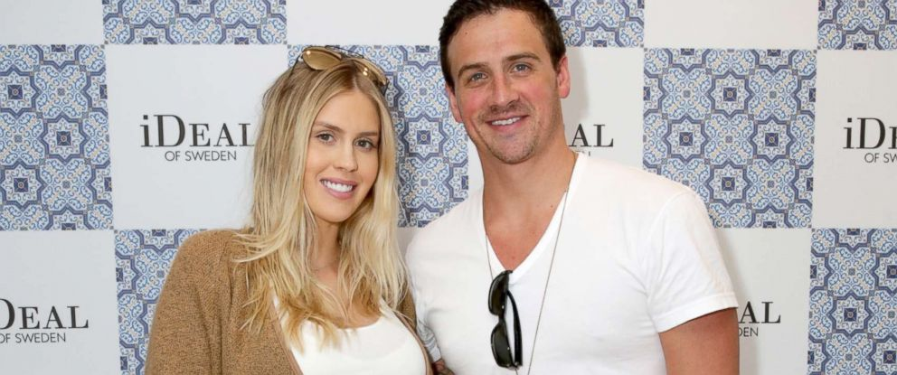 PHOTO: Ryan Lochte (R) and Kayla Rae Reid attend Kari Feinsteins Pre-Oscar Style Lounge at the Andaz Hotel, Feb. 23, 2017 in Los Angeles.