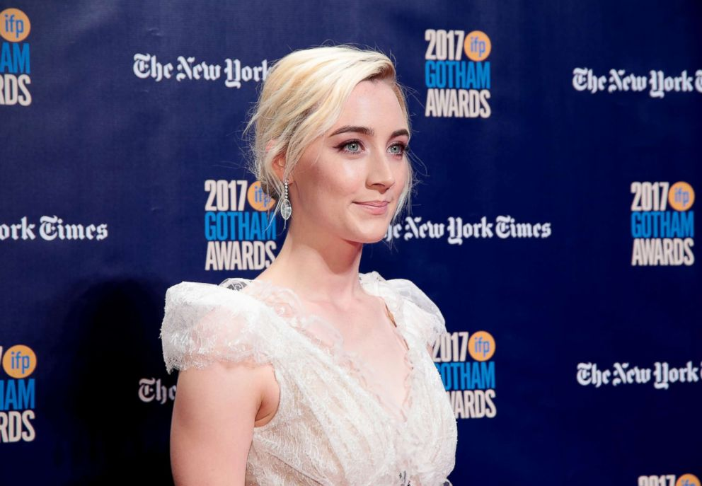PHOTO: Saoirse Ronan attends IFPs 27th Annual Gotham Independent Film Awards on Nov.27, 2017, in New York City.