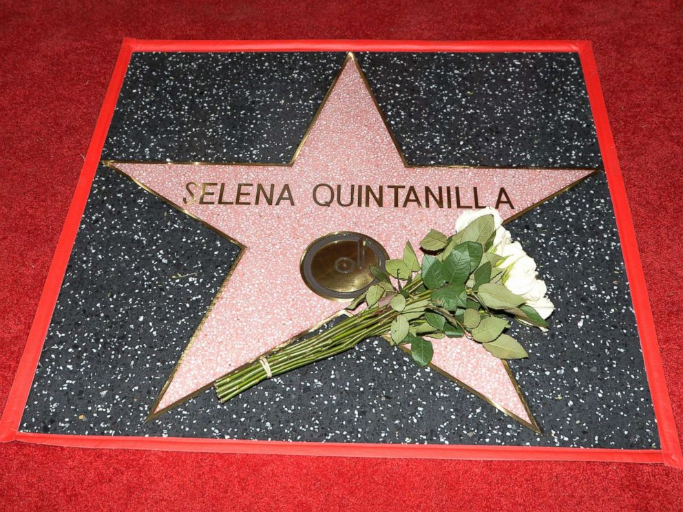 Late singer Selena honored on Hollywood Walk of Fame