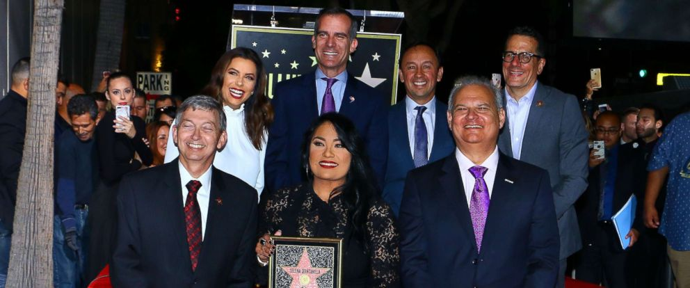 PHOTO: Selena Quintanilla is posthumously honored with star on the Hollywood Walk of Fame in Los Angeles, Nov. 3, 2017.