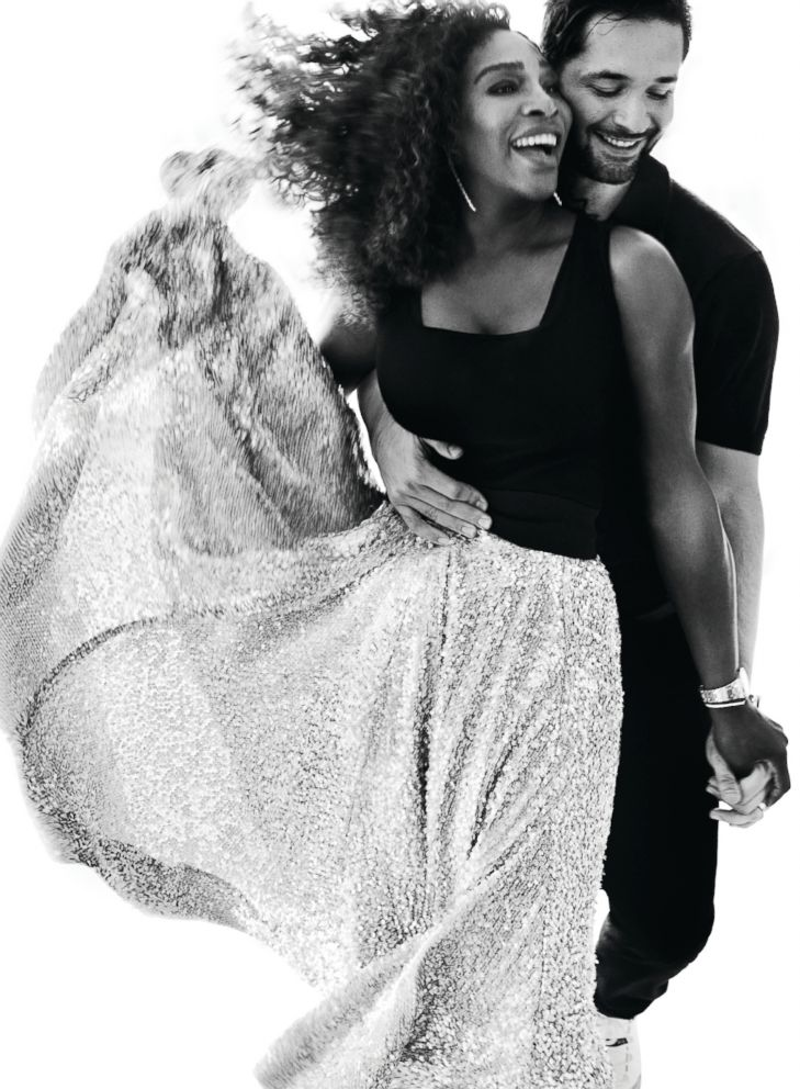 PHOTO: Serena Williams is photographed here with her husband Alexis Ohanian by Mario Testino for Vogue magazine.