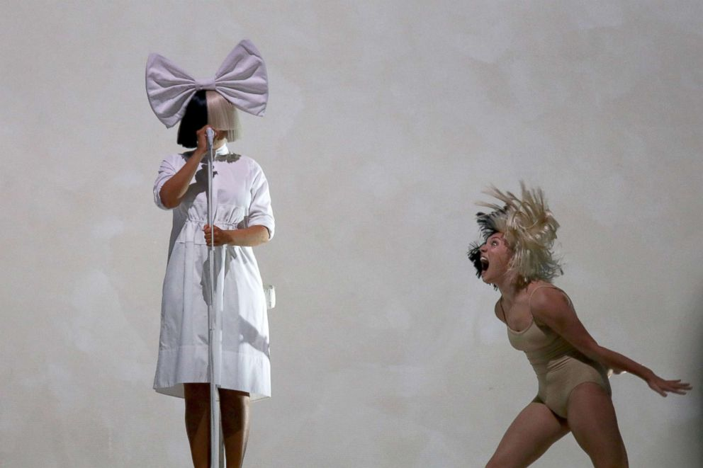 PHOTO: Singer SIA and dancer Maddie Ziegler perform on stage at Mt Smart Stadium, Dec. 5, 2017, in Auckland, New Zealand.