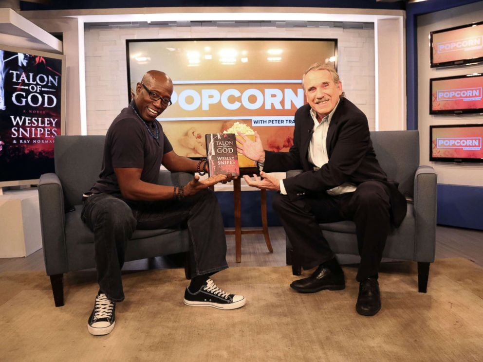 PHOTO: Wesley Snipes appears on Popcorn with Peter Travers at ABC News studios, July 26, 2017, in New York City.