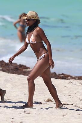 Gabrielle Union Hits the Beach