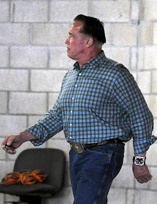Arnold Schwarzenegger's 'Bowl' Cut