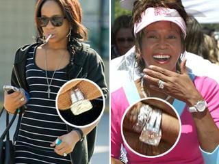 How Many Carats Was Whitney Houston Wedding Ring Image Of Wedding
