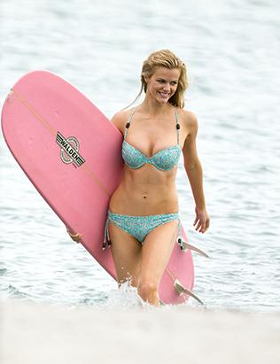 Brooklyn Decker Rocks A Teeny Green Bikini