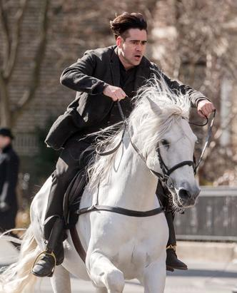 Colin Farrell Gallops A Horse in 'Winter's Tale'