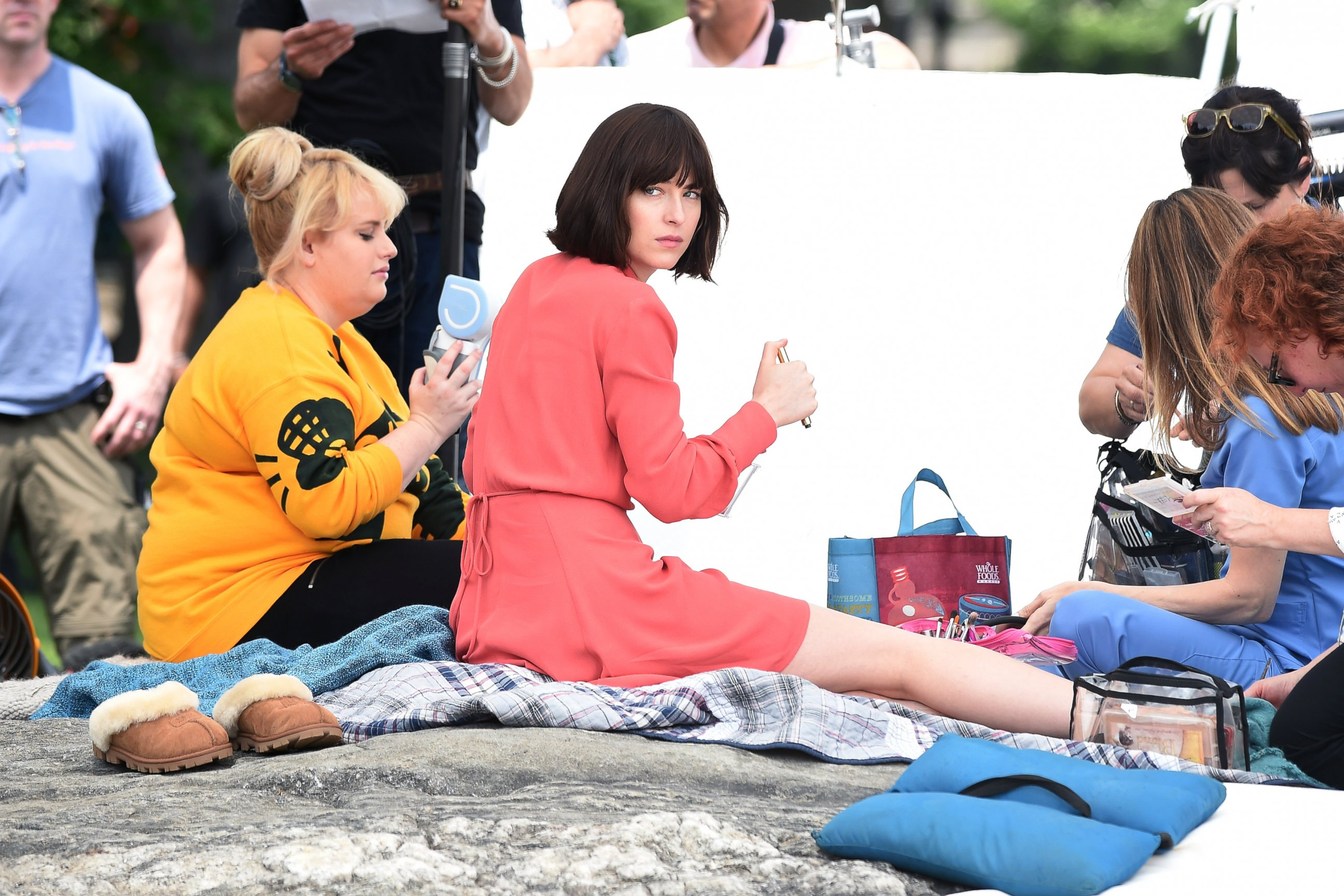 Rebel Wilson and Dakota Johnson Get to Work on a New Film