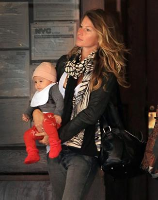 Gisele Steps Out with Daughter Vivian