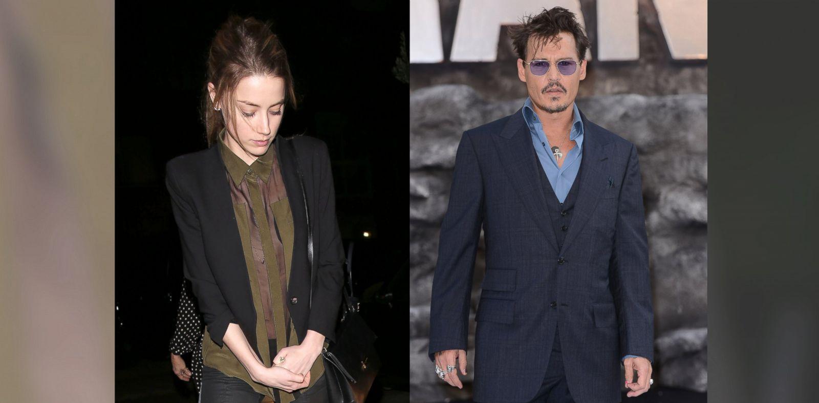 PHOTO: Johnny Depps (R) girlfriend, Amber Heard (L) seen leaving AGO Italian Restaurant in West Hollywood, CA.