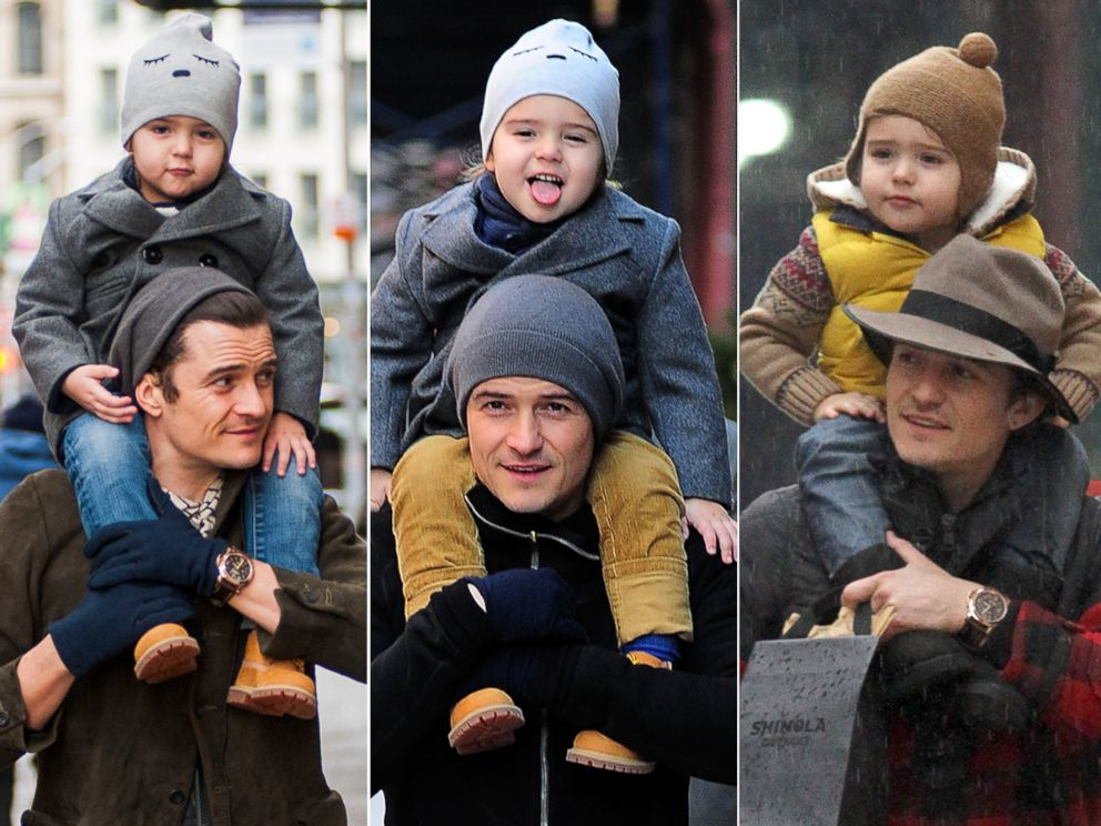 PHOTO: Orlando Bloom has been out with his son, Flynn, three days this week in New York City.