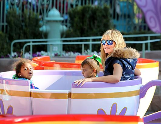 Heidi Klum Takes Her Kids to Disneyland