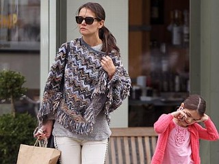 Photos: Suri Cruise Takes a Call