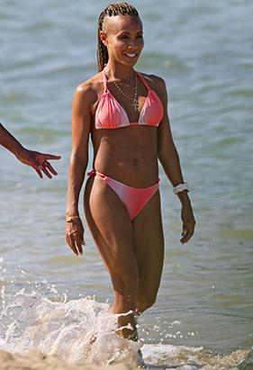 Jada Pinkett Smith Rocks a Tiny Pink Bikini
