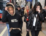 PHOTO: Kylie Jenner and Jayden Smith go for a spot of lunch at Cafe Nero in Piccadilly in London on March 3, 2013.