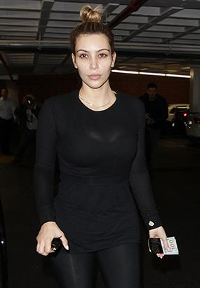 See Kim Kardashian Make Up Free