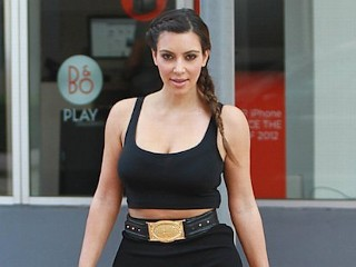 Photos: Kim K Shows Off Hourglass Figure