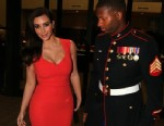 PHOTO: Kim Kardashian attends the Marine Corps Ball with Sgt Martin Gardner in Greenville, North Carolina, Nov. 15, 2012.