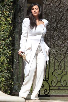 Kim Kardashian Stuns in White