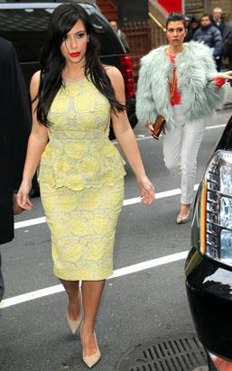 Kim K Curvy in Cut Outs