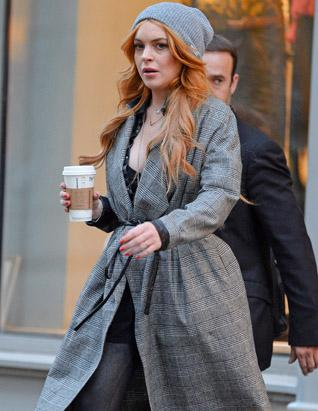 Lindsay Lohan Steps Out in NYC