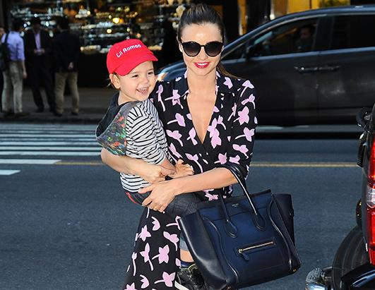 Miranda Kerr and Flynn Hit N.Y.C.