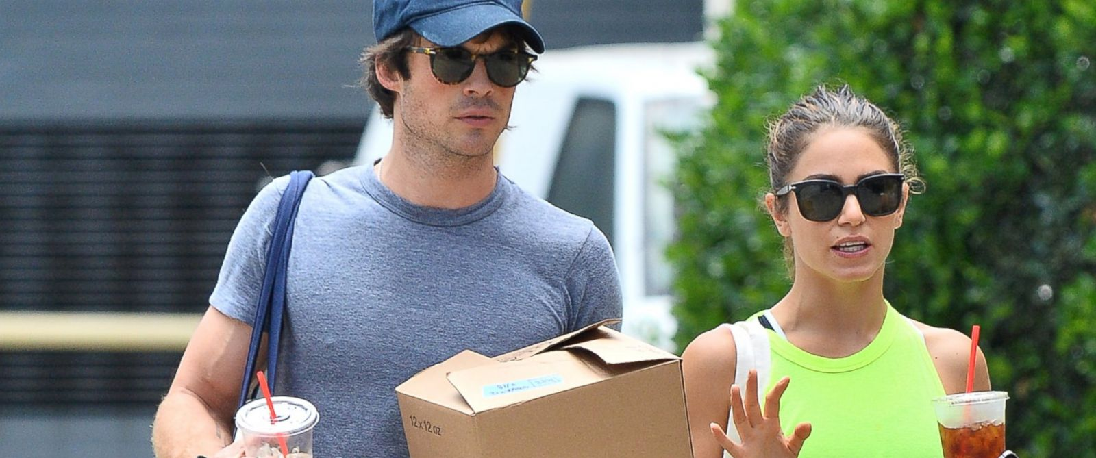 PHOTO: Nikki Reed and rumored new boyfriend Ian Somerhalder hit up the Farmers Market in Studio City.