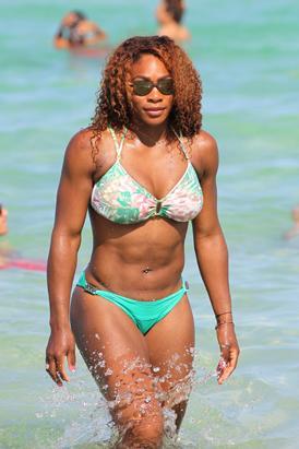Serena Williams Flaunts Floral Green Bikini