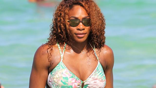 Serena Williams Flaunts Green Floral Bikini