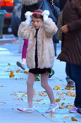 Suri Cruise Debuts New Fur Coat