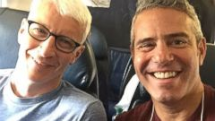 Anderson Cooper and Andy Cohen Take a Fun Selfie