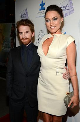 Clare Grant towers over Seth Green
