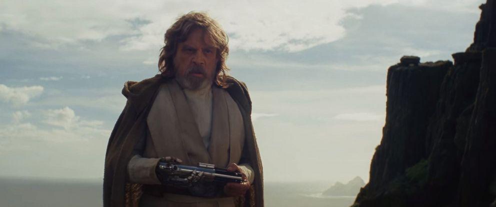 """PHOTO: Mark Hamill, as Luke Skywalker, in a scene from """"Star Wars: The Last Jedi"""" official trailer."""