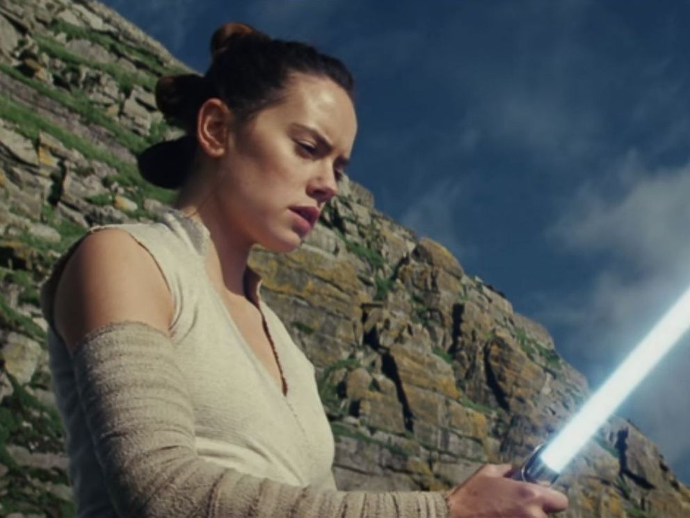 PHOTO: Daisy Ridley, as Rey, in a scene from Star Wars: The Last Jedi official trailer.
